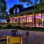 Hottel Havelberg Garten bei Nacht